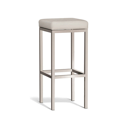 Modern Cream Stool with Brush Frame 750mm (Set of 2) - Workspace Luxe