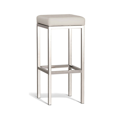 Modern Cream Stool with Polish Frame750mm (Set of 2) - Workspace Luxe