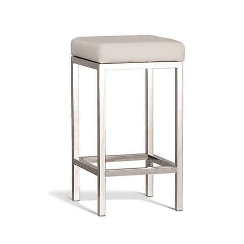 Modern Cream Stool with Polish Frame 650mm (Set of 2) - Workspace Luxe