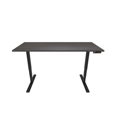 Electronic Height Adjustable Ergonomic Desk - Black Top / Black Legs - Workspace Luxe