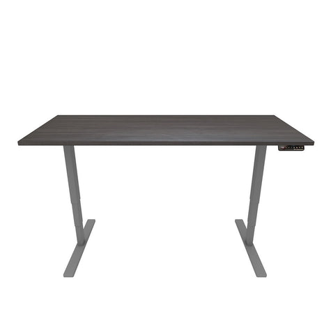 Electronic Height Adjustable Ergonomic Desk – Black Top / Grey Legs - Workspace Luxe
