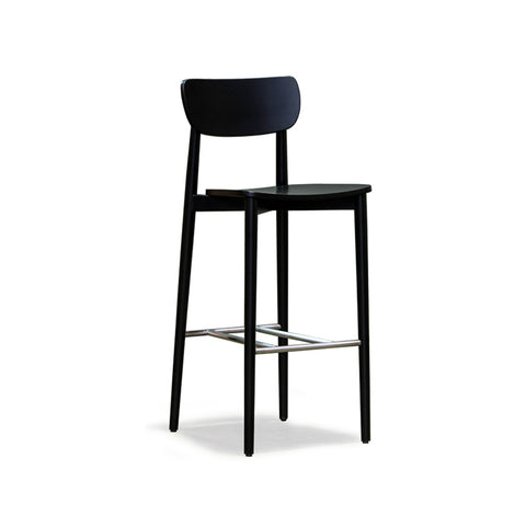 Scandinavian Black Timber Stool 750 - Workspace Luxe