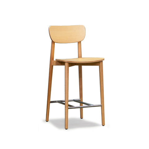 Scandinavian Natural Timber Stool 650 - Workspace Luxe