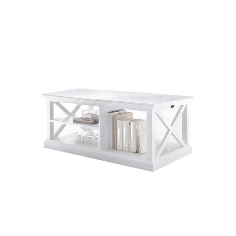 Hamptons Halifax White Timber Coffee Table - Workspace Luxe