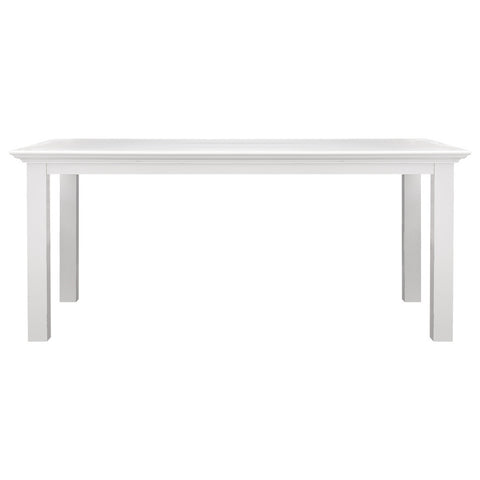 Hamptons Halifax White Timber Table 200mm - Workspace Luxe