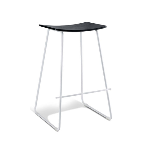 Tall Black Stool with White Frame (Set of 2) - Workspace Luxe