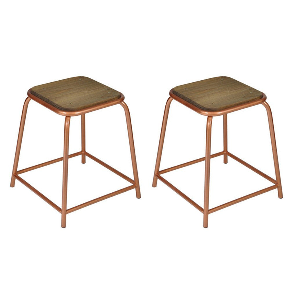 Tube Stool Copper (set of 2) - Workspace Luxe