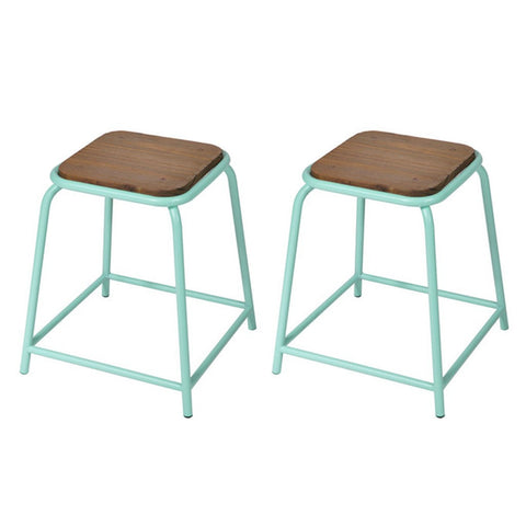 Tube Stool Mint Green (set of 2) - Workspace Luxe