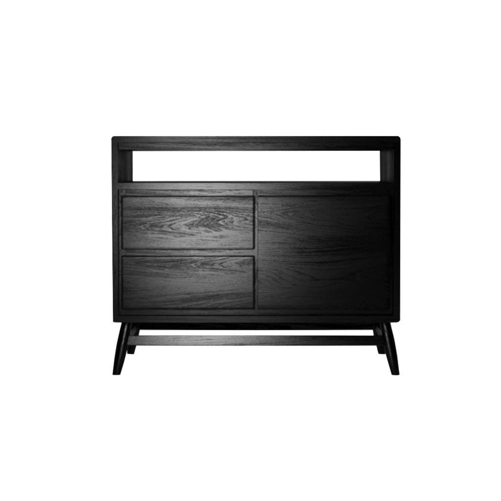Twist Sideboard Satin Black - Small - Workspace Luxe