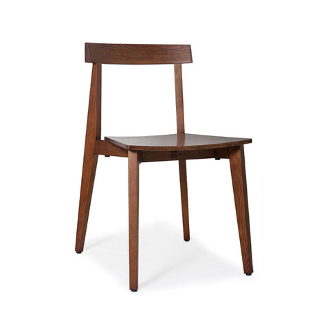 Walnut Ash Timber Chair (Set of 2) - Workspace Luxe