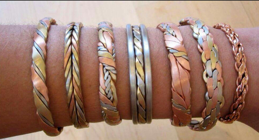 Copper Bracelets with Rare Earth Magnets