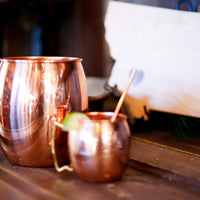48oz. Shiny Copper Barrel Mug
