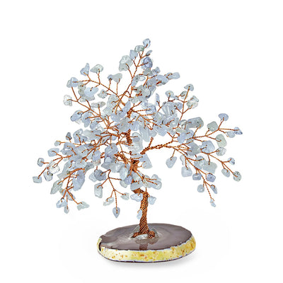 RELAXING LULLABY FENG SHUI AQUAMARINE STONE TREE MEDIUM