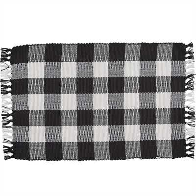 Black and cream -Wicklow Check Yarn Placemat