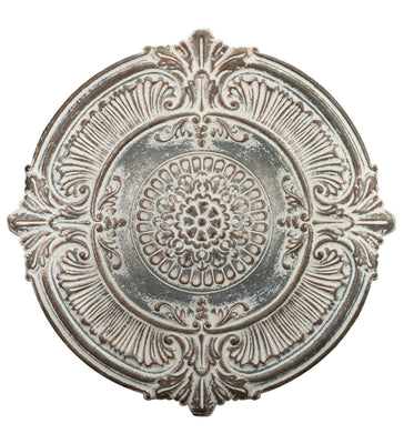 Antique White Medallion Wall Decor 38