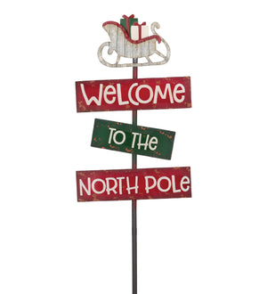 Holiday Stake - North Pole