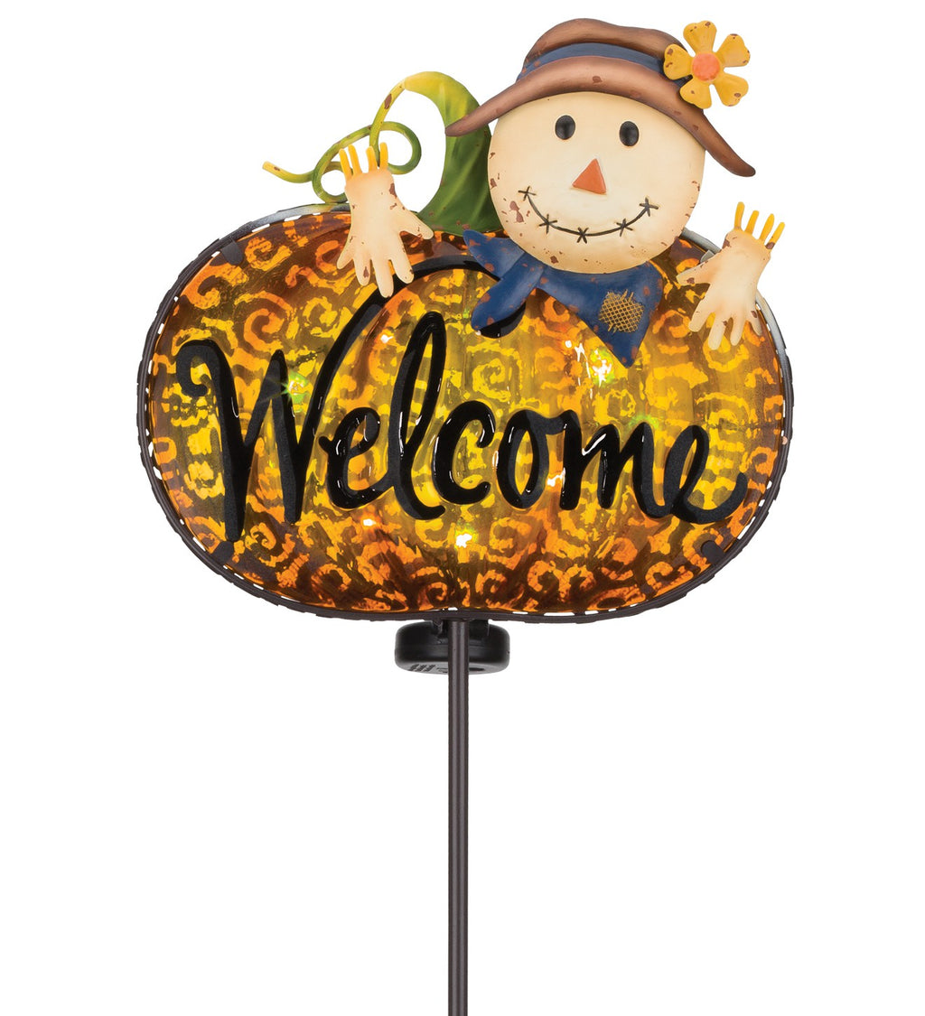 Solar Welcome Stake - Scarecrow