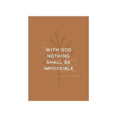 The Anastasia Co - Nothing Shall Be Impossible Art Print