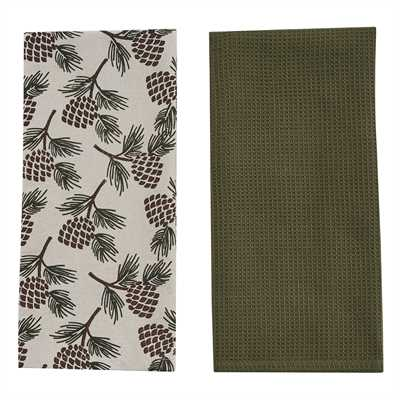Fir Tree 2 Dishtowel Set