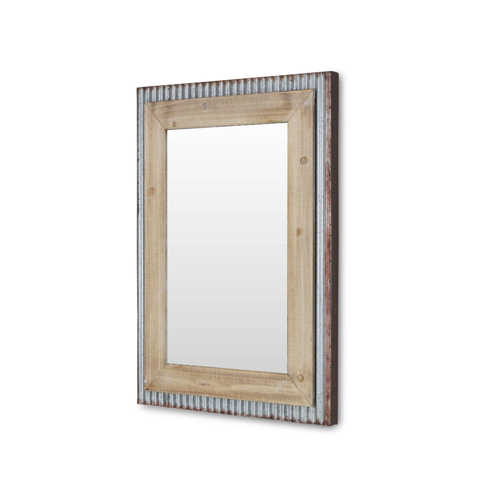 Cheungs - Metal and Wood Wall Mirror