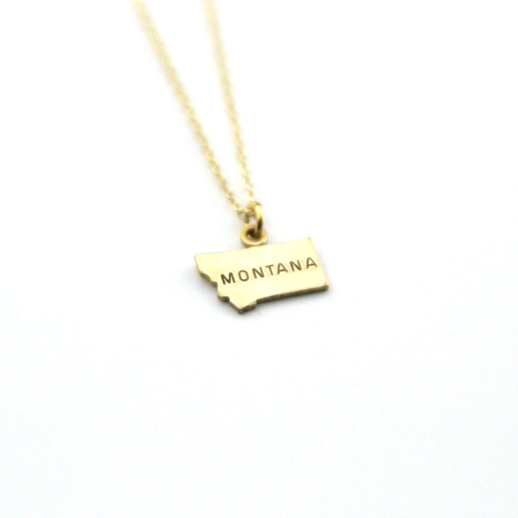 Montana - State Name Necklace
