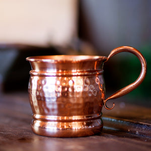 Old Style Shiny Hammered Mug 16oz.