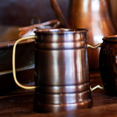 Antique Copper Tankard