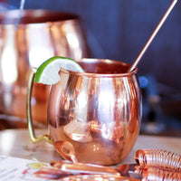 Shiny Copper Barrel Mug