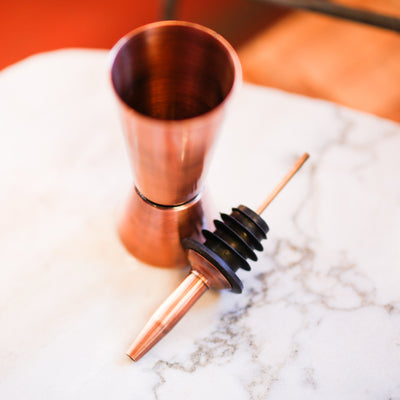 Shiny Copper Wine/Liquor Pourer