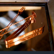 Copper Ice Tongs