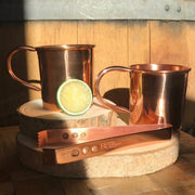 Shiny Copper Straight Mug with Brim