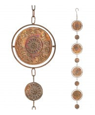 Copper Medallion Spinner Rain Chain