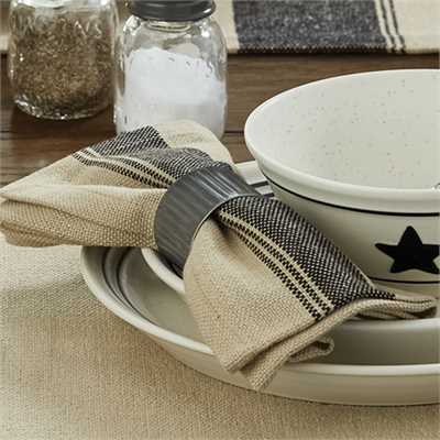 CRIMPED GALVANIZED NAPKIN RING