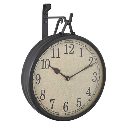 Black Hanging clock with iron hook