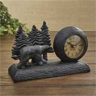 Black Bear table clock
