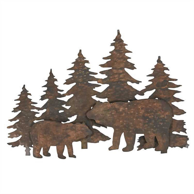 Bear Hammered Copper Wall Art