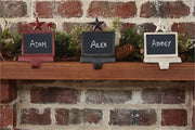 Chalkboard Stocking Hanger - Red