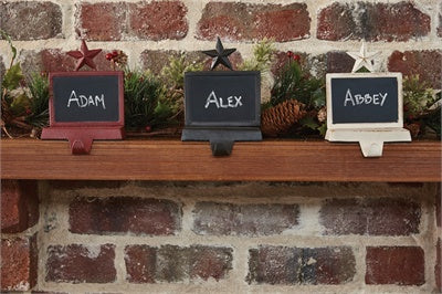 Chalkboard Stocking Hanger - White