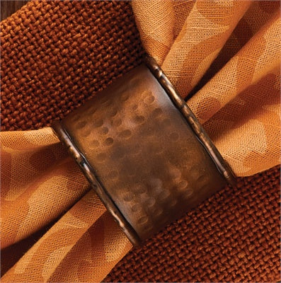 Hammered Copper Napkin Ring