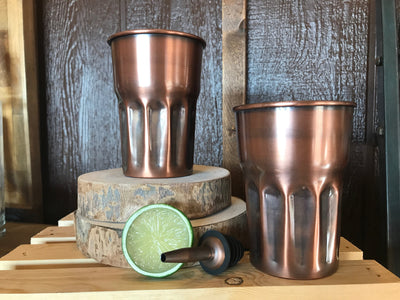 16 oz. Antique Copper Glass