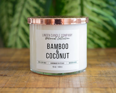 Linden Candle Company - Spring Candle 16oz Bamboo & Coconut