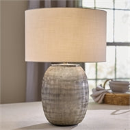 Glass Etched Table Lamp