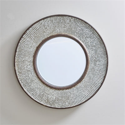 Ribbed Metal Mirror
