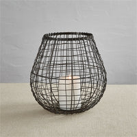 Wire Teardrop Lantern Bronze - Small