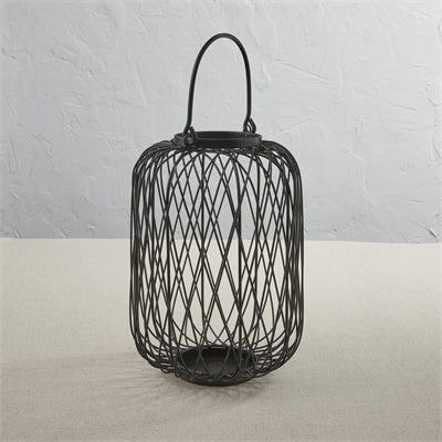 Criss Cross Lantern - Black