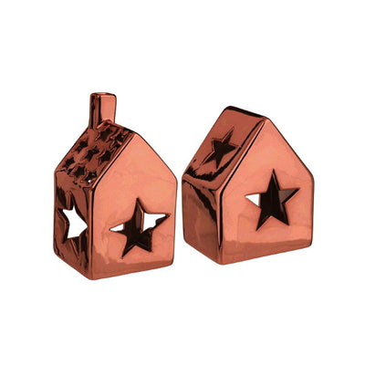 Small House T-Light Holders