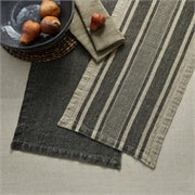 "Washed Linen Solid Table Runner - Slate - 60""L"