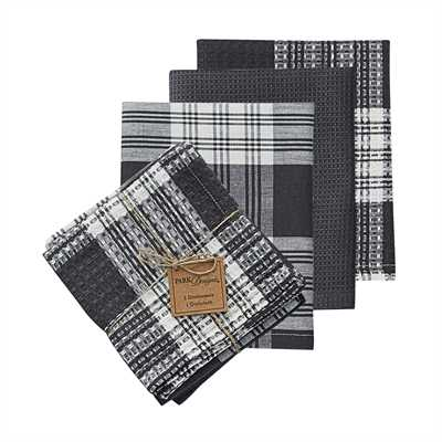 Dylan 3 Dishtowel & 1 Dishcloth Set - Slate
