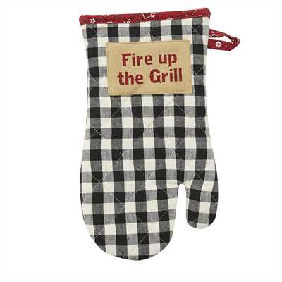 Fire Up The Grill Oven Mitt