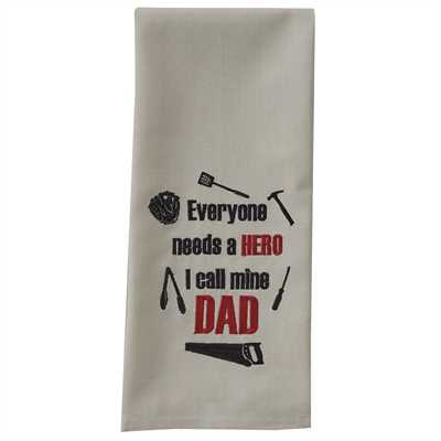 I Call Mine Dad Embroidered Dishtowel